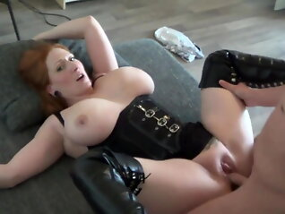 redhaired boobed fucked