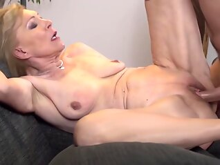 blonde horny having